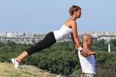 Jóga cvičení — Stock fotografie