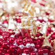 Stock Photo: Christmas presents on pearls