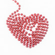 Red pearled heart — Stock Photo