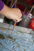 The process of making Ebru — Foto Stock