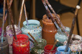 Set of colors for making Turkish Ebru — Stock Photo