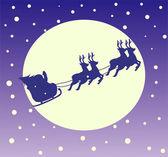 Santa Claus in a sleigh — Stock Vector