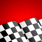 Racing Checkered Flag Finish — Stock Vector