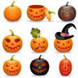 Collect Pumpkin for Halloween — Stock Vector