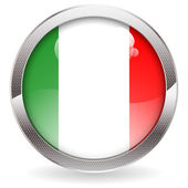 Gloss Button with Italy Flag — Wektor stockowy