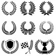 Set of Laurel Wreaths — Vector de stock #13134104