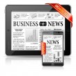 Breaking News Concept - Tablet PC & Smartphone Business News - Vettoriali Stock