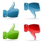 Set Social Media Sticker — Stock Vector #13134305
