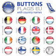 Royalty-Free Stock Imagem Vetorial: Buttons with EU Flags