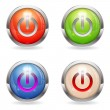 Set Gloss button with Switch — Stock Vector #13134364