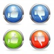 Like & Unlike Button - Stock Vector