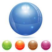 Bola de cristal 3d — Vector de stock