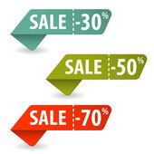Raccogliere i segni di vendita — Vettoriale Stock