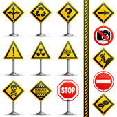 Collection Road Signs — Stock Vector