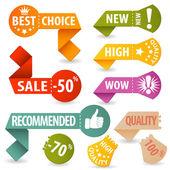 Recueillir les enseignes commerçantes — Vecteur