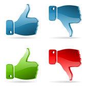 Set Social Media Sticker — Stock Vector