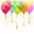 Birthday Balloons — Stock Vector