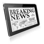 Concepto - digital de noticias — Vector de stock