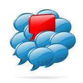 особое мнение - концепция социальных средств массовой информации — Cтоковый вектор