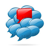 Opinión especial - concepto de redes sociales — Vector de stock