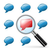 Speciale advies - sociale media concept — Stockvector
