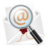 Concepto - búsqueda e-mail — Vector de stock