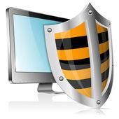 Safe Computer Concept — Stock Vector