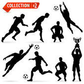 Silhouettes Football Players — Stock Vector