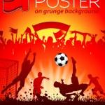 Soccer Poster — Stock Vector #14423435