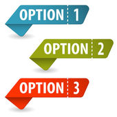 Collect Option Signs — Stockvector