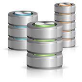 Icône de base de données et disque dur — Vecteur