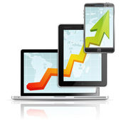 Moderno conceito de negócio — Vetorial Stock