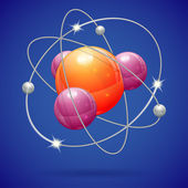 Atom Model — Stock Vector