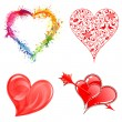 Collect Valentine's Day Hearts — Stock Vector