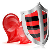 Love is Protected Concept — Stock Vector