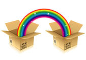 Rainbow from Box — Stock Vector