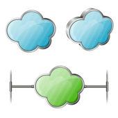 Il cloud computing — Vettoriale Stock