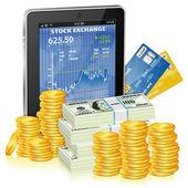 Financial Concept - Make Money on the Internet — Stock Vector