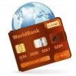 World Credit Card Concept - Stock Vector