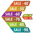 Collect Sale Signs — Vector de stock #23384058