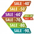 Collect Sale Signs - Stock Vector