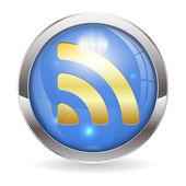 RSS Button — Stock Vector