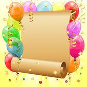 Urodziny ramki — Wektor stockowy