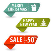 Collect Christmas Signs — Stock Vector