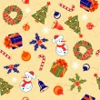 Christmas Seamless Background — 图库矢量图片