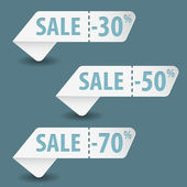 Collect Sale Signs — Vecteur