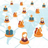Social Network and Teamwork Concept — Stock Vector