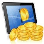 notion financière - faire de l'argent sur internet — Vecteur
