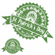 Stock Vector: St. Patrick's Day Stamps