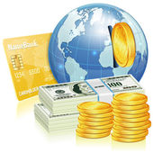 Global Financial Concept — Stock Vector